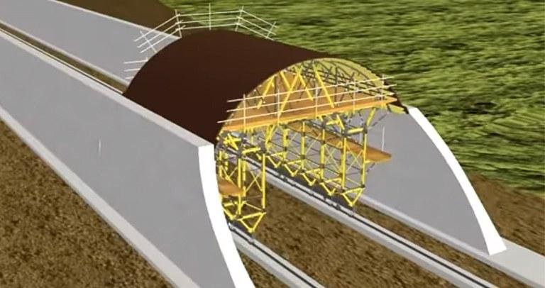 Carro de moldaje para túneles MK