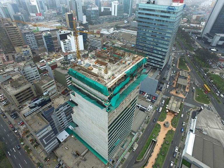 Edificio sostenible Torre Javier Prado en Lima